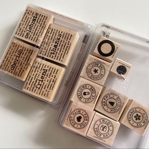 STAMPIN UP Text Stamps Riveting